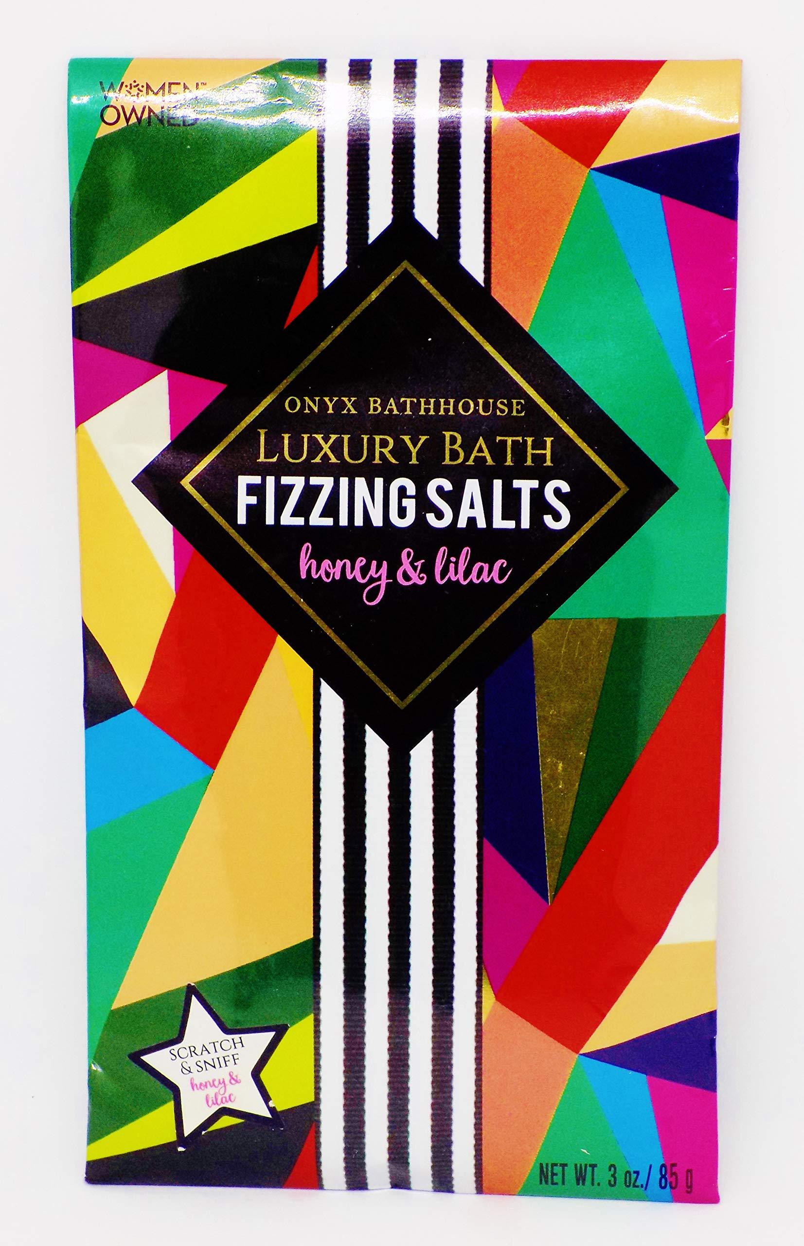 amazon.com - Onyx Bathhouse Fizzing Bath Salts, Honey & Lilac Scented, 3 oz