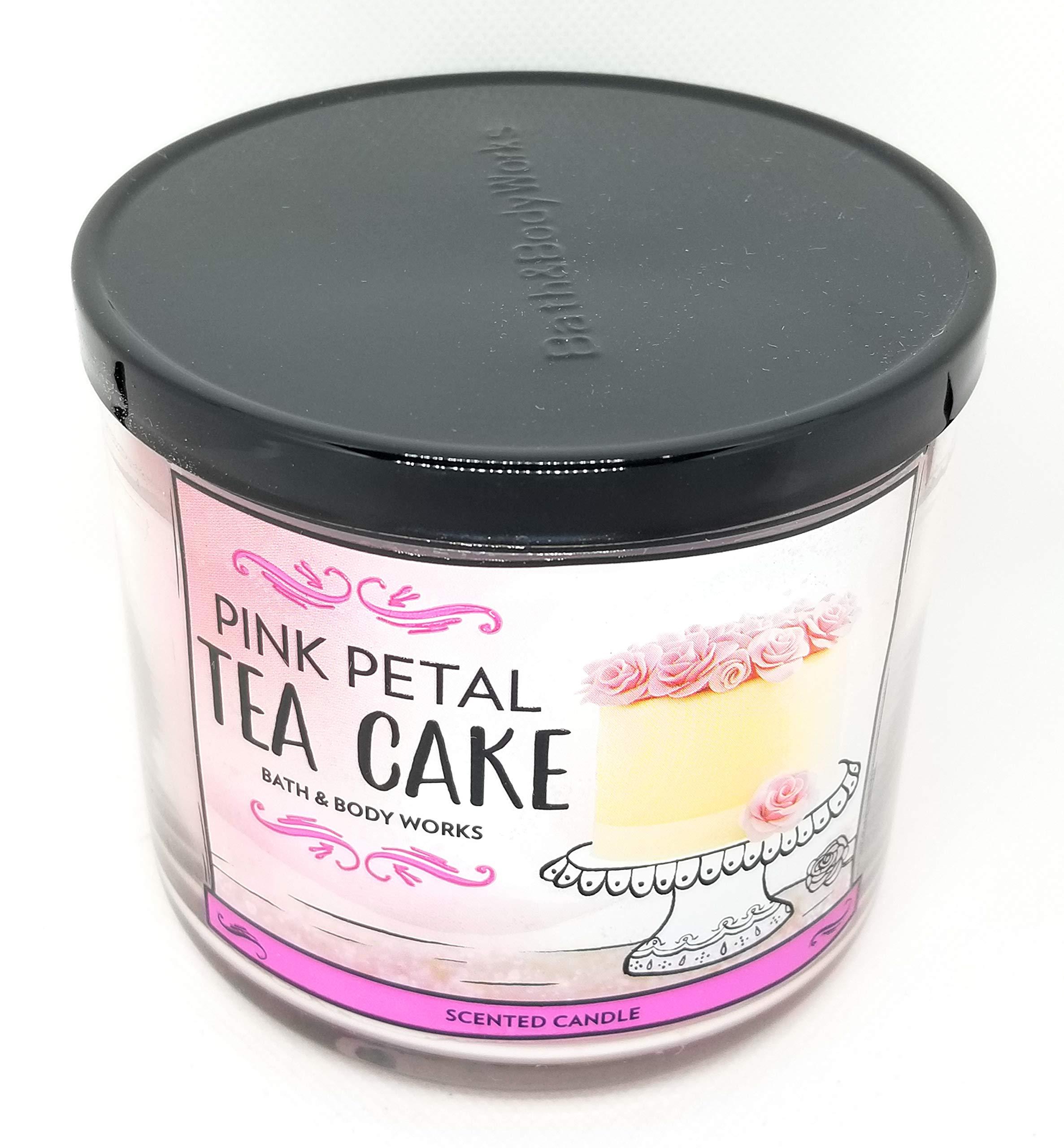amazon.com - Bath and Body Works White Barn Pink Petal Tea Cake 3 Wick Candle 14.5 Ounce