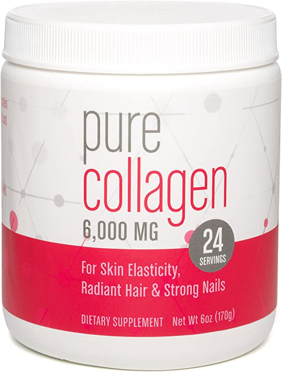 360 Nutrition - 360 Nutrition Pure Collagen | 6,000 MG Drink Mix Powder (unflavored) | 6 oz (24 Servings)