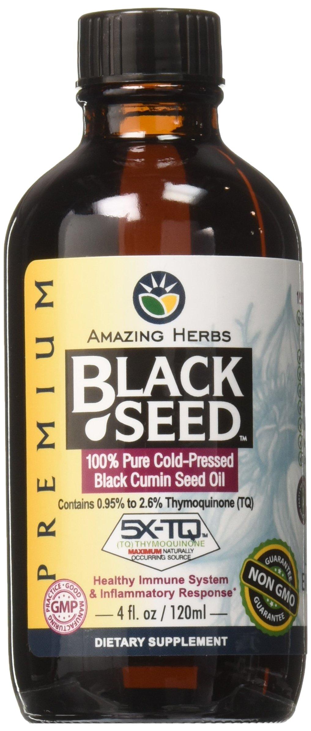 Amazing Herbs - Amazing Herbs Premium Black Seed Oil, 4 Fluid Ounce