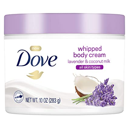 AmazonUs/UNDA7 - Dove Whipped Lavender and Coconut Milk Body Cream 10 oz