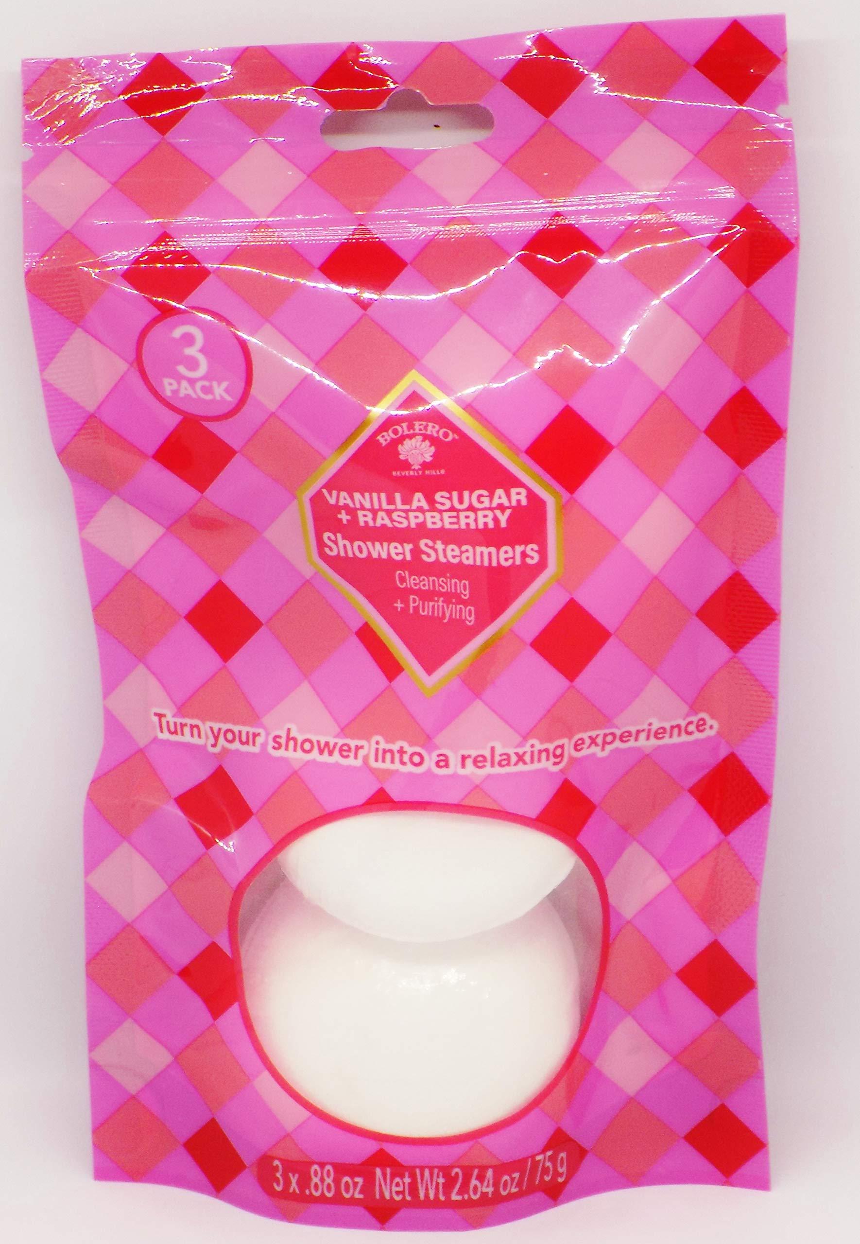 amazon.com Bolero Vanilla Sugar & Raspberry Shower Steamers