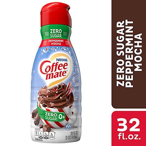 safeway - Coffee-mate Coffee Creamer Sugar Free Peppermint Mocha Flavor - 32 Fl. Oz.