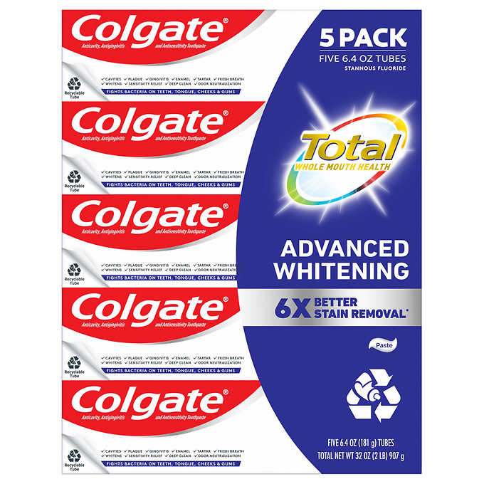 Colgate - Colgate Total SF Advanced Whitening Toothpaste 6.4 oz, 5-pack