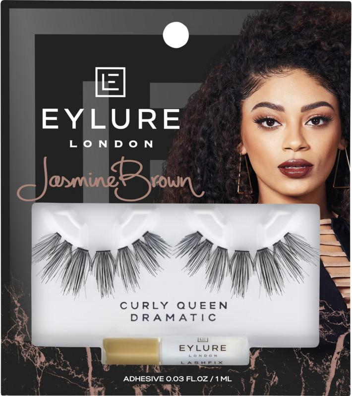 Eylure - Eylure X Jasmine Brown Curly Queen Lashes