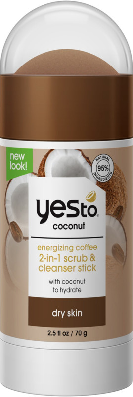 Yes To - Coconut Energizing Coffee 2-in-1 Scrub & Cleanser Stick