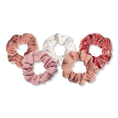 Kitsch - Blush/Mauve Velvet Scrunchies