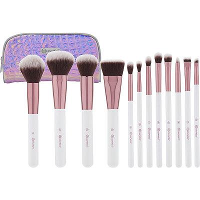 BH Cosmetics - Crystal Quartz - 12 Pc Brush Set with Cosmetic Bag