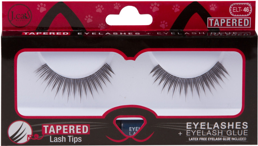 J. Cat - J.Cat Beauty Tapered Lashes + Glue #ELT46