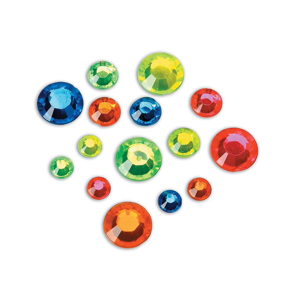 Creatology - Multicolored Round Neon Gems