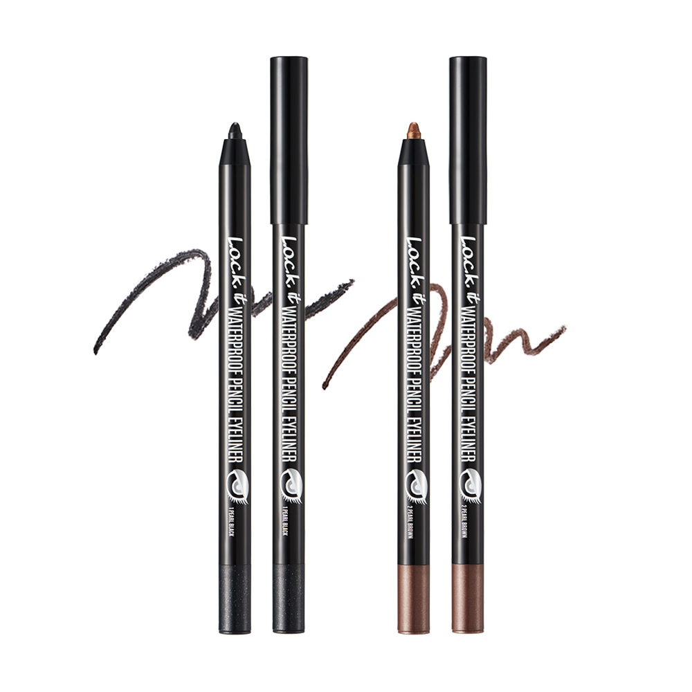 L.O.C.K. - Waterproof Pencil Eyeliner, Pearl Brown