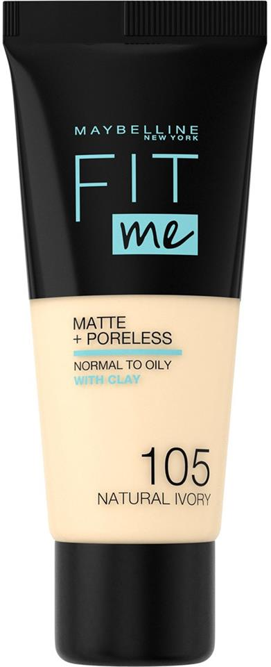 Maybelline - Maybelline New York Fit Me Matte + Poreless Foundation 105