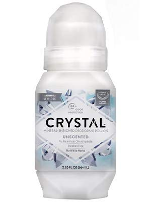 Crystal - Crystal Mineral Body Deodorant Roll-On, Unscented 2 oz