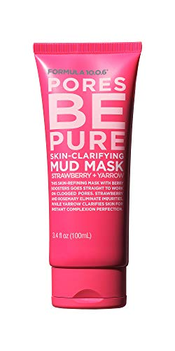 Formula 10.0.6 - Formula 10.0.6 Pores Be Pure Skin-Clarifying Mud Mask (3.4 Fl. Oz.) Purifying Face Mask that Unclogs Pores & Removes Impurities for Clear Skin - Vegan, Sulfate-Free & Cruelty-Free