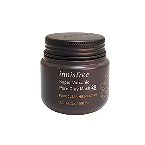 Innisfree - Innisfree Super Volcanic Pore Clay Mask 3.38 Oz/100Ml + SoltreeBundle Natural Hemp Paper 50pcs