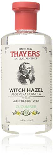 Thayers THAYERS Witch Hazel with Aloe Vera, Cucumber, Clear, 12 Fl Oz