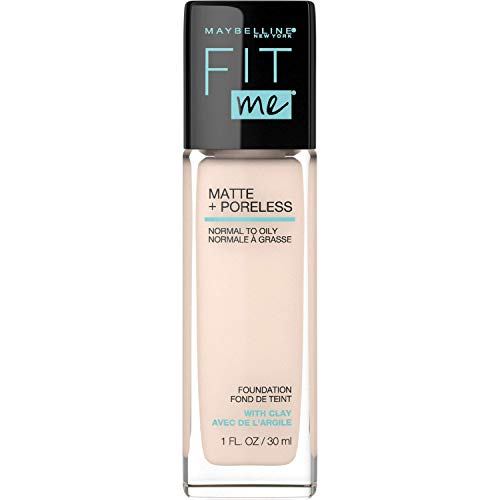 Maybelline - Maybelline Fit Me Matte + Poreless Liquid Foundation Makeup, Fair Ivory, 1 fl. oz. Oil-Free Foundation