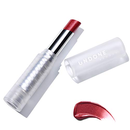 Undone Beauty - Light Reflecting, Lip Amplifying Lipstick. Sheer, Buildable, Hydrating Color - UNDONE BEAUTY Light On Lip. Aloe, Coconut & Volume Enhancing Pigment. Paraben, Vegan & Cruelty Free. ROYAL RED