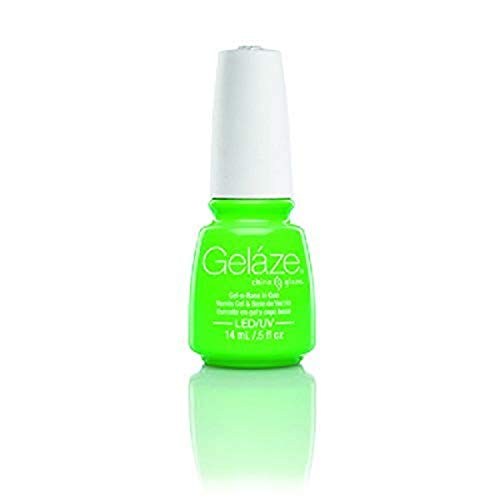 China Glaze - China Glaze Gelaze 100% Gel-n-Base Polish, In The Lime Light, 0.5 Ounce