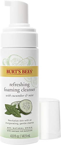 Burts Bees - Burt's Bees Refreshing Foaming Face Cleanser and Natural Face Wash with Cucumber and Mint, 4.8 Fluid