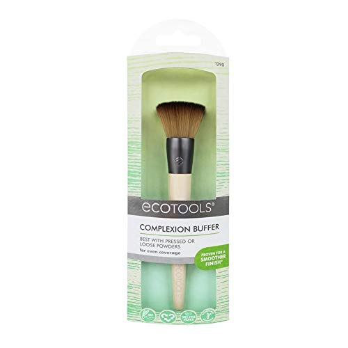 Ecotools - EcoTools Custom Coverage Buffing Brush - Soft Custom Cut Bristles Recycled Aluminum Ferrules; For Use with Cream or Powder Foundation Blush and Bronzer