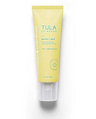 Tula - TULA Skin Care Protect + Glow Daily Sunscreen Gel Broad Spectrum SPF 30 | Skincare-First, Non-Greasy, Non-Comedogenic & Reef-Safe with Pollution & Blue Light Protection | 1.7 fl. oz.