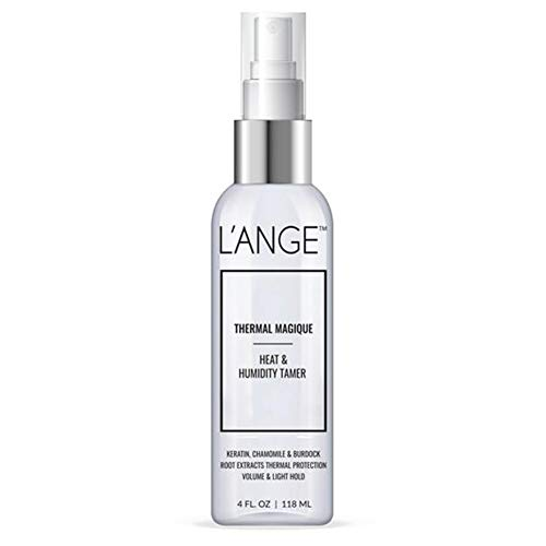 l'Ange Hair L'ANGE Hair Heat Protectant Spray - Thermal Magique Hair Protector Against Flat Iron & Hot Blow Dry – Hair Spray For Strengthening Hair, Humidity & Fizz Control – 4 FL Oz / 118ML