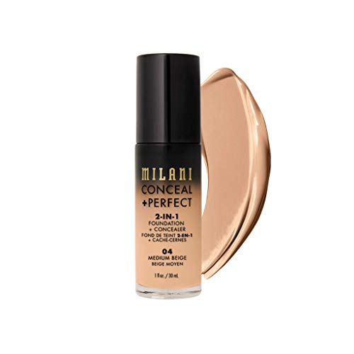Milani - Milani Conceal + Perfect 2-in-1 Foundation Concealer, Medium Beige, 1.0 Fluid Ounce