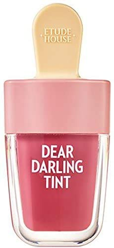 Etude House - ETUDE HOUSE Dear Darling Water Gel Tint Ice Cream (PK004 Red Bean Red) | Vivid High-Color Lip Tint with Minerals and Vitamins from Soap Berry Extract to Moisture Your Lips