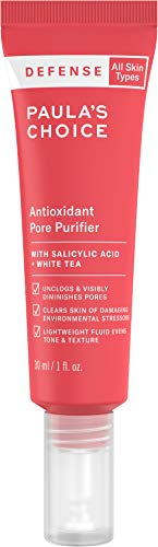Paula'S Choice - Paula's Choice-DEFENSE Antioxidant Pore Purifier, Concentrated Serum w/Azelaic Acid, Salicylic Acid & White Tea, Anti-Pollution & Free Radical Damage Protection for All Skin Types, 1 Ounce Tube