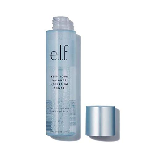E.l.f Cosmetics e.l.f, Keep Your Balance Toner, Gentle, Refreshing, Anti-Inflammatory, Removes Makeup & Impurities, Hydrates, Cleanses, Soothes, Infused with Hyaluronic Acid, Witch Hazel and Aloe, 5.07 Fl Oz