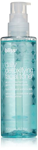 Bliss - bliss Daily Detoxifying Facial Toner | Effective Toner, Light Moisturizer, & Makeup Primer | With Rose Water, Sodium Hyaluronate, & Malachite Extract | Alcohol Free | 6.7 fl. oz