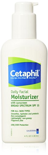 Cetaphil - Cetaphil Daily Facial Moisturizer with sunscreen BROAD SPECTRUM SPF 15, 4 oz