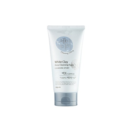 Kwailnara - Cleansing Story Natural Facial Deep Foam Cleansing - White Clay