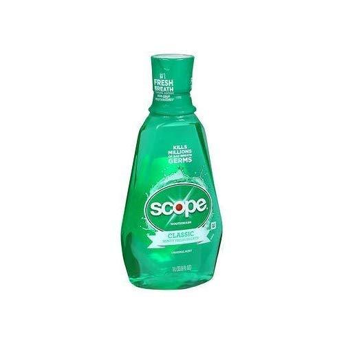 Unknown Crest + Scope Mouth Rinse, Classic Mint, 1 L Bottle, 6/carton