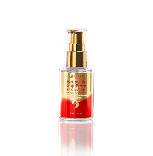 Azure Cosmetics - Retinol & Goji Berry Anti Aging Eye Serum - Moisturizes & Tones   Combats Pollutants   Reduce Wrinkles and Fine Lines - 30mL