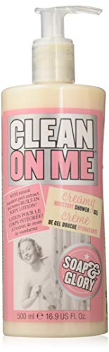 Soap and Glory - Clean On Me Shower Gel and Body Lotion