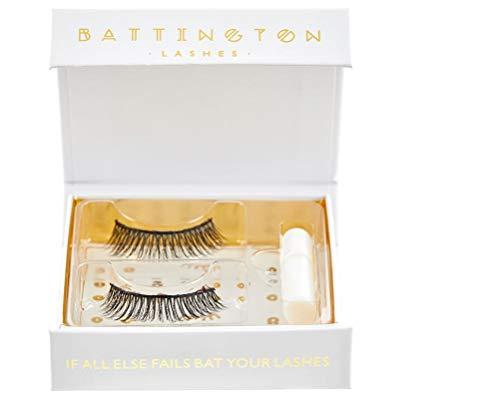 Battington Lashes Battington 3D Silk Lashes With Mini Glue Monroe False Eyelashes