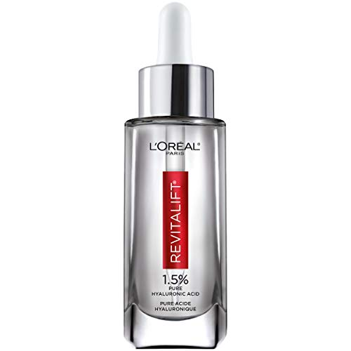 L'Oreal Paris - Hyaluronic Acid Serum by L'Oreal Paris, Revitalift Derm Intensives Pure Hyaluronic Acid Anti-Aging Face Serum for Visibly Plumped Skin and Reduced Wrinkles, Paraben Free, Non Comedogenic, 1.0 oz.