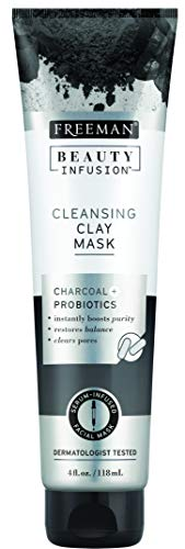 Freeman Beauty Infusion Cleansing Charcoal Clay Facial Mask with Probiotics