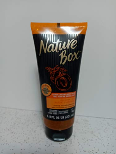NatureBox - Nature Box Exfoliating Body Wash - for Refreshed Skin, with 100% Cold Pressed Apricot Oil, 6.8 Ounces
