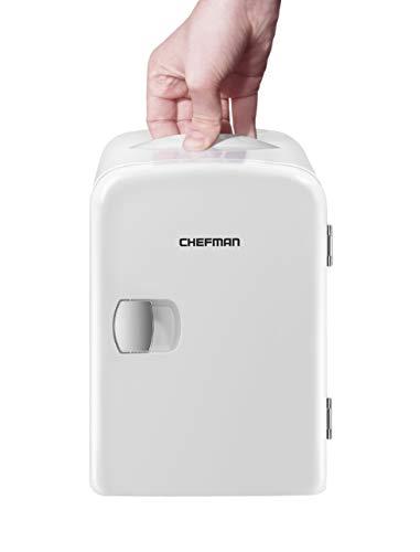 Chefman - Portable Compact Personal Fridge Cools & Heats, 4 Liter