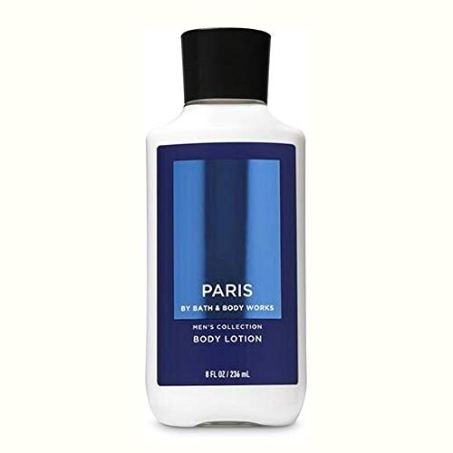 Bath & Body Works - Bath and Body Works Men's Collection Paris Lightweight Body Lotion Super Smooth 16 hr Moisture with Shea Butter and Vitamin E 8 fl oz / 236 ml