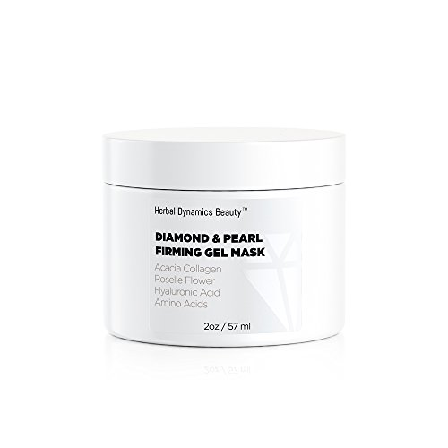 Herbal Dynamics Beauty - HD Beauty Diamond + Pearl Firming Gel Mask with Anti-Aging Acacia Collagen, Roselle Flower, Hyaluronic Acid, and Amino Acids to Revive Dull Looking Skin and Enhance Radiance, 2.0 oz.