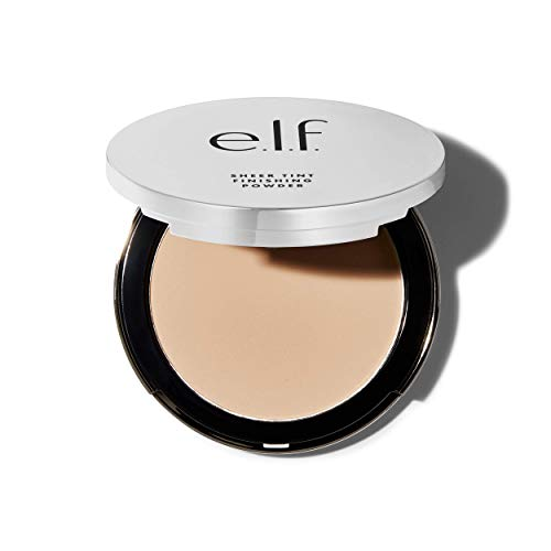 E.l.f Cosmetics e.l.f, Beautifully Bare Sheer Tint Finishing Powder, Mattifying, Silky, Light Coverage, Long Lasting, Controls Shine, Creates a Flawless Face, Fair/Light, All-Day Wear, 0.33 Oz