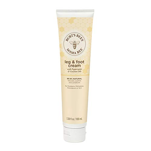 Burts Bees - Burt's Bees Mama Bee Leg & Foot Cream with Peppermint Oil - 3.38 Ounce Tube (Pack of 2)