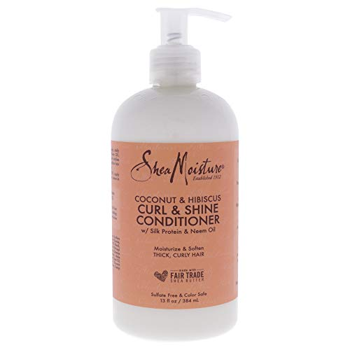 Shea Moisture - Shea Moisture Coconut Hibiscus Curl & Shine Conditioner 13 Ounce (Pack Of 2)