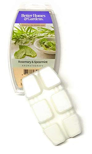 Better Homes & Gardens Better Homes & Gardens Rosemary & Spearmint Aromatherapy Essential Oil Infused Wax Melts, 2.5 OZ (Rosemary & Spearmint, 2.5 oz)