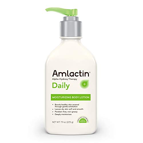 Amlactin - AmLactin Daily Moisturizing Body Lotion   Instantly Hydrates, Relieves Roughness   Powerful Alpha-Hydroxy Therapy Gently Exfoliates   Smooths Rough, Dry Skin   Paraben-Free 7.9 oz.