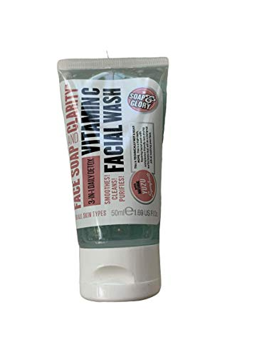 Soap & Glory - Face Soap and Clarity, 3 in 1 Daily Detox Vitamin C Facial Wash